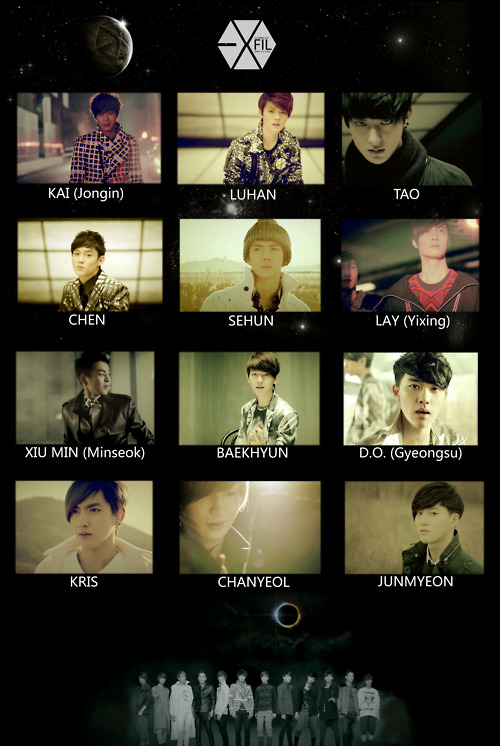 EXO Official MV List Dichography